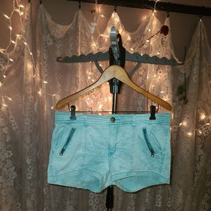 American eagle teal/turquoise green shorts